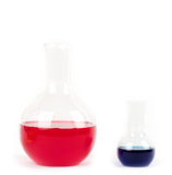 Het laboratoriumapparatuur van het glas Stock Foto