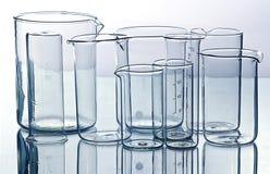Het laboratoriumapparatuur van het glas Royalty-vrije Stock Afbeeldingen