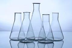 Het laboratoriumapparatuur van het glas Stock Afbeelding