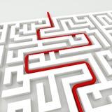In het labyrint Stock Foto