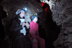 Het labyrint Mlynky_5 van het gipshol Stock Fotografie