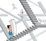 Het labyrint van de bureaucratie Royalty-vrije Stock Afbeelding