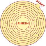 Het Labyrint van de cirkel Stock Foto's
