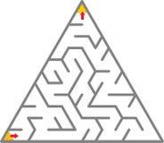 Het labyrint van de driehoek Royalty-vrije Stock Foto
