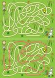 Het labyrint van de eijacht Stock Afbeelding