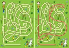 Het labyrint van de eijacht vector illustratie