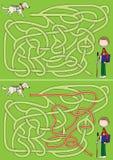 Het labyrint van de gidshond Stock Afbeelding