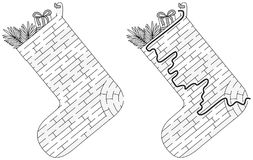 Het labyrint van de Kerstmiskous royalty-vrije illustratie