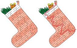 Het labyrint van de Kerstmiskous Stock Afbeeldingen