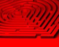 Het labyrint van de liefde aan hart Royalty-vrije Stock Afbeeldingen