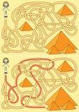 Het labyrint van de piramide Stock Foto