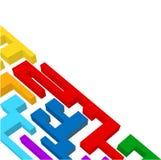 Het labyrint van de regenboog Royalty-vrije Stock Afbeelding