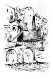 Het Labyrint van de stad Stock Afbeeldingen