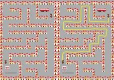 Het labyrint van de stad Royalty-vrije Stock Foto's
