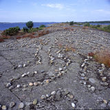 Het labyrint van de steen Stock Foto