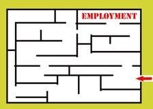 Het labyrint van de werkgelegenheid stock illustratie