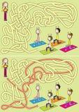 Het labyrint van de yogaklasse Stock Fotografie