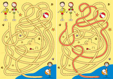 Het labyrint van de zomer vector illustratie