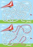 Het labyrint van deltavliegen Royalty-vrije Stock Foto