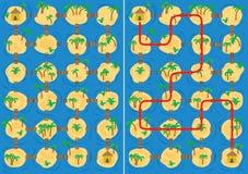 Het labyrint van eilanden royalty-vrije illustratie