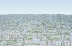 Het labyrint van het geld Stock Foto's