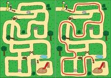 Het labyrint van het park Stock Afbeeldingen