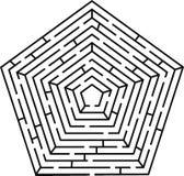 Het labyrint van het pentagoon royalty-vrije illustratie