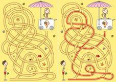 Het labyrint van het roomijs Stock Foto