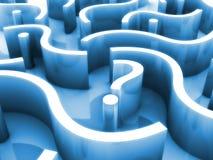 Het labyrint van het vraagteken Stock Fotografie