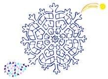 Het labyrint van Kerstmis Stock Afbeelding