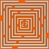 Het labyrint van twijfel over sinaasappel stock illustratie