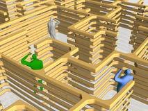 Het labyrint van zaken. vector illustratie