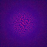 Het labyrintachtergrond van het labyrint Stock Foto