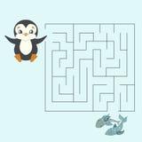 Het labyrintlabyrint vindt een lay-out van manierjonge geitjes voor spel Royalty-vrije Stock Foto's