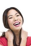 Het lachen Aziatisch vrouwenportret Stock Afbeelding