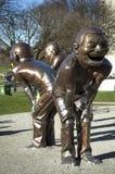 Het lachen beeldhouwwerk in Vancouver Stock Foto's