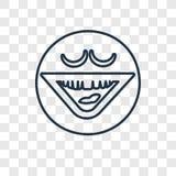 Het lachen concepten vector lineair die pictogram op transparante rug wordt geïsoleerd royalty-vrije illustratie