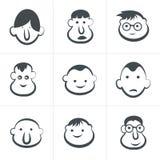 Het lachen de gezichten van kinderen reeks Vector illustratie Royalty-vrije Stock Fotografie