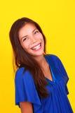 Het lachen etnisch vrouwenportret Royalty-vrije Stock Foto