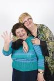 Het lachen familie het golven Royalty-vrije Stock Foto's