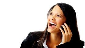 Het lachen gesprek Stock Fotografie