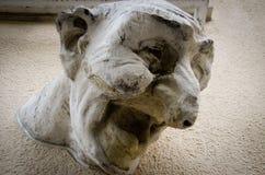 Het lachen Gezichtsbeeldhouwwerk, Luxemburg stock foto