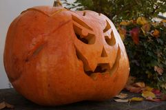 Het lachen Halloween Pompoen Stock Afbeelding