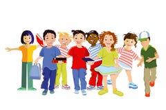 Het lachen kinderenillustratie Stock Afbeeldingen
