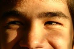 Het lachen ogen Stock Afbeeldingen