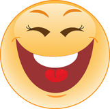 Het lachen smiley Royalty-vrije Stock Foto's