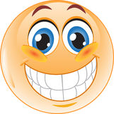 Het lachen Smiley. Stock Foto