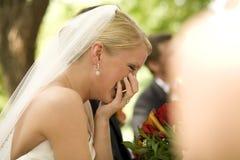 Het Lachen van de bruid Stock Foto's