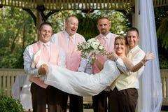Het Lachen van de bruid royalty-vrije stock foto