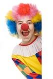Het lachen van de clown Stock Foto